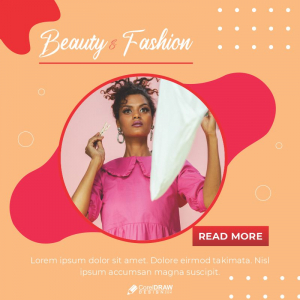 Beauty n Fashion Poster Banner Download From Coreldrawdesign Free Template