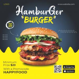 Hamburger Burger Free Poster Template Download from Coreldrawdesign