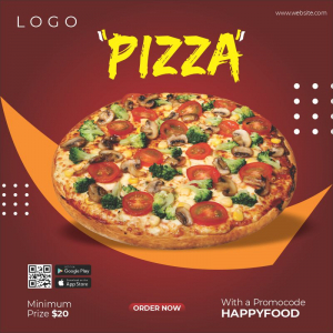 Pizza Free Poster Template Download from Coreldrawdesign
