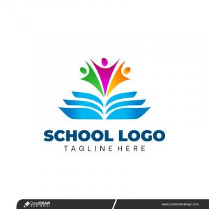 School Logo Free Vector Design