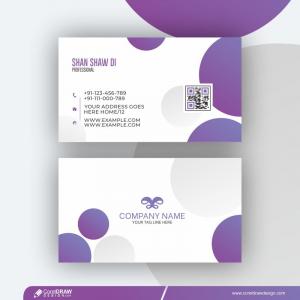 Trendy Geometric Vector Business Card Free Vector Design