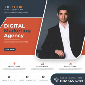Digital Marketing Agency Poster Banner Template Download From Coreldrawdesign