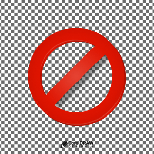 Red Prohibited Restricted Sign Vector