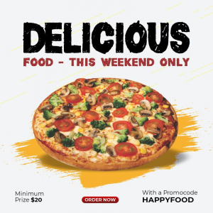 Delicious Food This Weekend Only Flat Discount Free Template Download From Coreldrawdesign