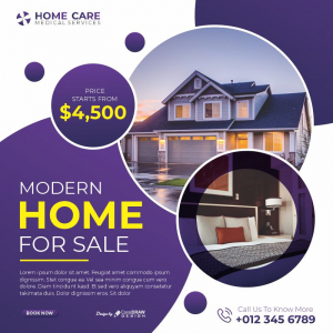 Home Care For Sale Flat Discount CDR Poster Download From Coreldrawdesign