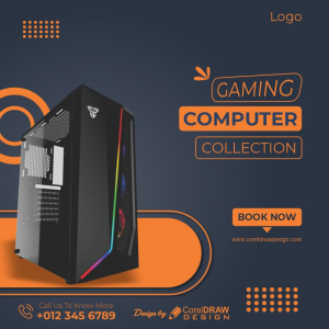 Gaming Computer Collection Flat Discount CDR Poster Download From Coreldrawdesign