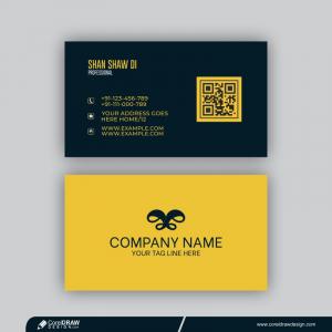 Modern Visit Card Mockup Template With Elegant Design Free Vector