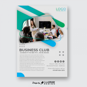 Business Club Commit To Benefit CDR Template Poster Download From Coreldrawdesign