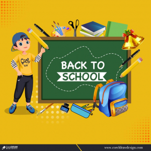 Back to school template theme Free Vector