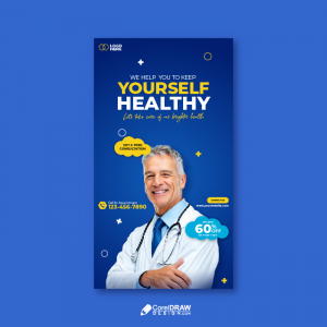 Abstract Medical Social Media Instagram Poster