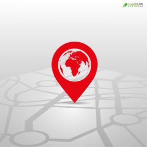 Creative Location GPS Logo Icon