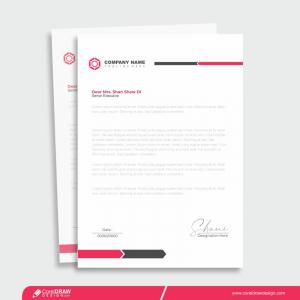 Corporate Letterhead Template Design For Free Premium Vector