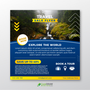 Abstract Travel Sale Social Media Banner Template