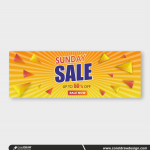 sunday sale creative design banner