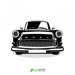 Old Black Vintage car vector