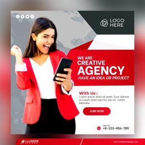 Creative Agency Presentation Banner Template Free Premium Vector