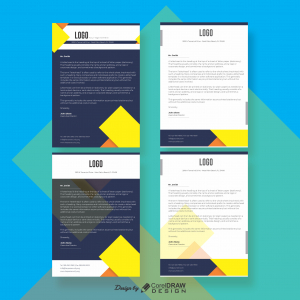 Blue Letterhead Corporate Download Free From Coreldrawdesign