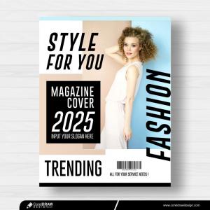 Magazine Cover Fashion Free Vector Design
