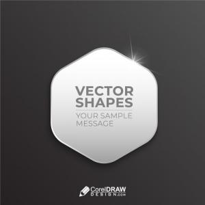 Hexagonal shiny callout vector shape