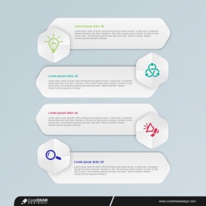 Business Infographics Design Template With 4 Options Premium Vector