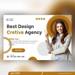 Creative Design Agency Banner Template Free Premium Vector
