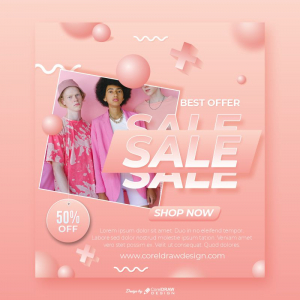 Best Offer Sale Pink Friendship Themed Poster Download From Coreldrawdesign