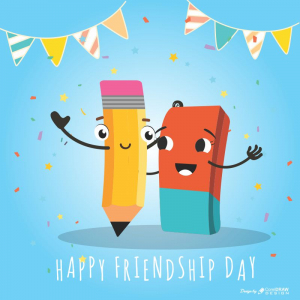Happy Friendship Day Greeting Cover For Friends Download Free Cdr From Coreldrawdesign