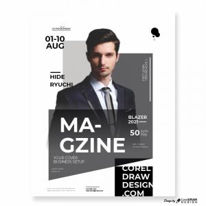 Black Suit Model Magazine Blazer Download Free Template From Coreldrawdesign