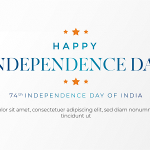 Indian independence day banner template
