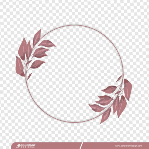 Round PNG Wedding Invitation Frame Background Free Vector