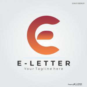 E Letter Logo Download From Coreldrawdesign Free Template Creative Design