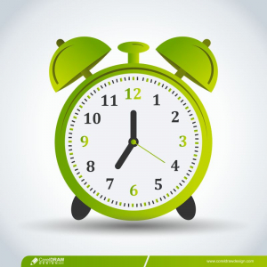 Alarm Clock That Sounds Loudly In The Morning To Wake Up From Bed Premium Vector