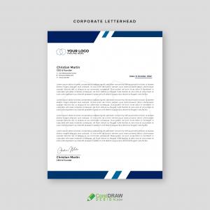Corporate Blue  Business Professional letterhead Vector Template