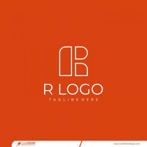 Flat R Logo Templates Free Vector