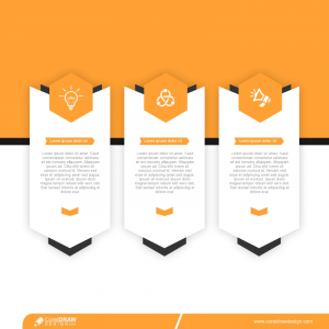 Infographic Template In Arrow Style Design Free Vector