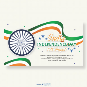 India Independence Day 15th August Vector Download From Coreldrawdesign