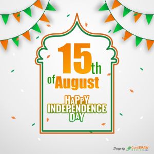 Creative Indian Independence Day Card Free CDR