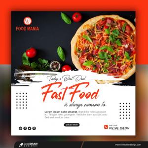 Fast Food Social Media Post Template Premium Vector