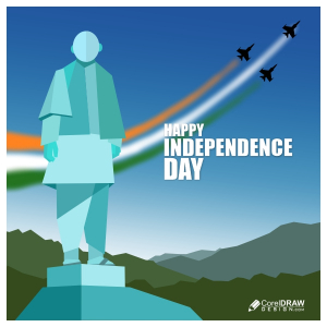 Statue of Unity, Independence Day Banner, Free CDR