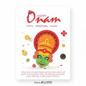 Happy Onam Festival Free Creative Download From Coreldrawdesign