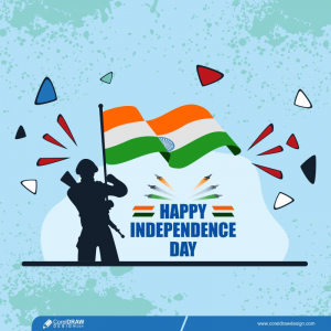 Happy Indian Independence Day Indian Army Soldier Free Premium Vector