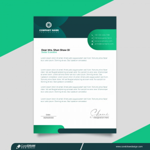 Modern Letterhead Layout Premium Template Design