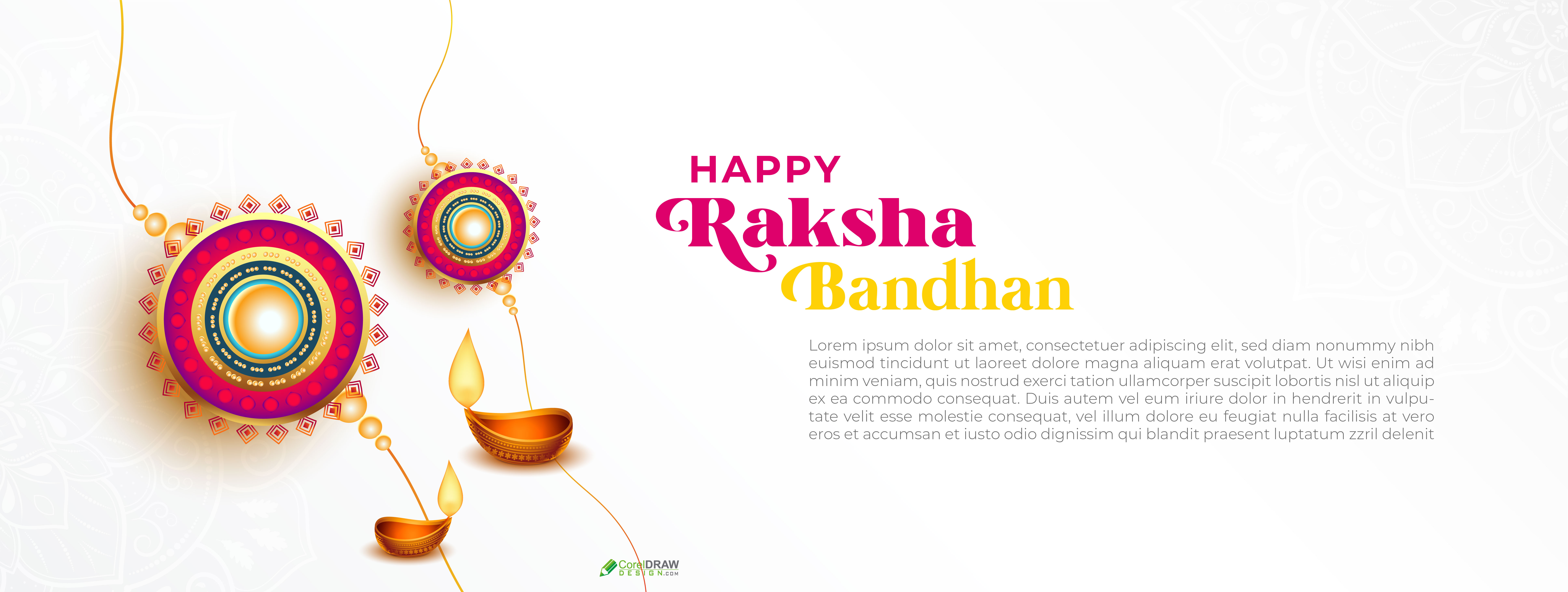 Happy Raksha Bandhan Indian Rakhi Festival Banner Background