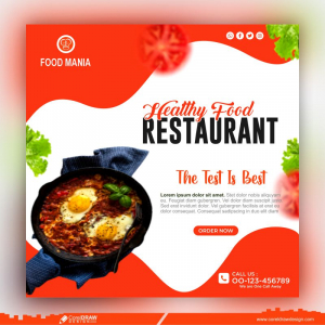 Healthy Food Social Media Post Template Premium Vector