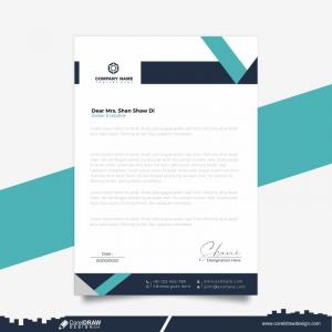 Corporate Letterhead Premium Vector