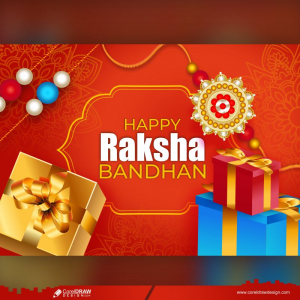 Raksha Bandhan Indian Festival Of Sisters And Brothers Decorated Rakhi Traditional Background With Greeting And Gift Free Vector