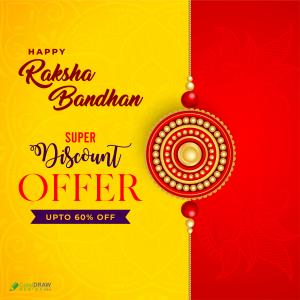 Happy Raksha Bandhan Festival Beautiful Banner Social Media Template