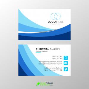 Corporate Blue Business Card Vector Template