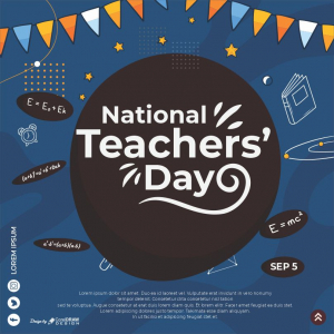 National Teacher's Day Download Free Greeting From Coreldrawdesign CDR & Eps Free Vector Template