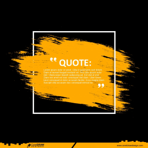 Modern Quotes Communication With Abstract Brush Background Free Vector